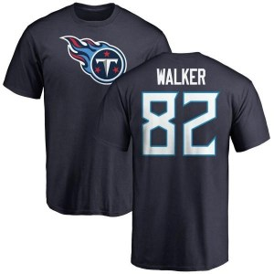 Delanie Walker Tennessee Titans Youth Navy Pro Line Any Name & Number Logo T-Shirt -