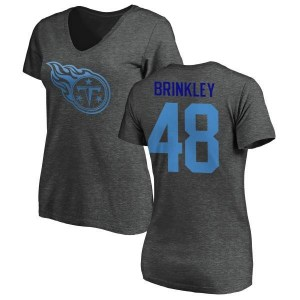 Beau Brinkley Tennessee Titans Women's Pro Line by Branded One Color T-Shirt - Ash