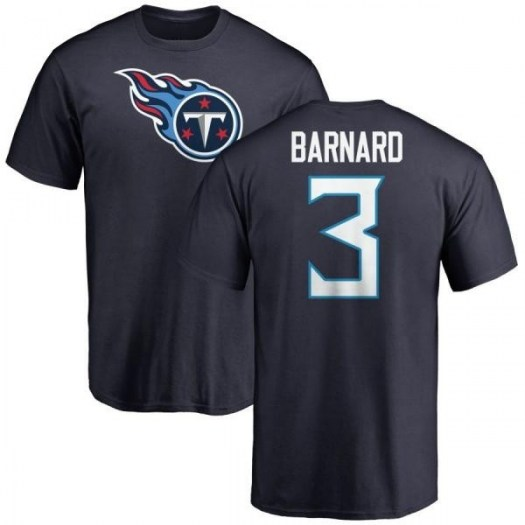 Austin Barnard Tennessee Titans Youth Navy Pro Line Any Name & Number Logo T-Shirt -