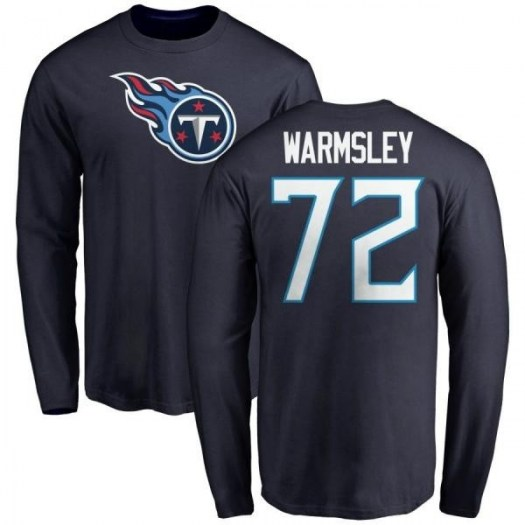 Julius Warmsley Tennessee Titans Youth Navy Any Name & Number Logo Long Sleeve T-Shirt -