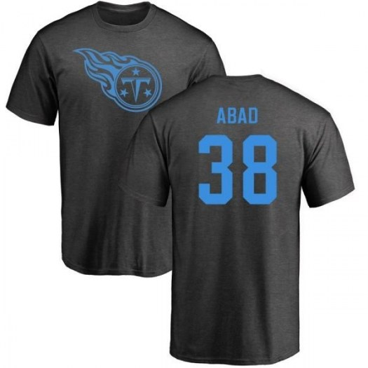 Manny Abad Tennessee Titans Men's One Color T-Shirt - Ash