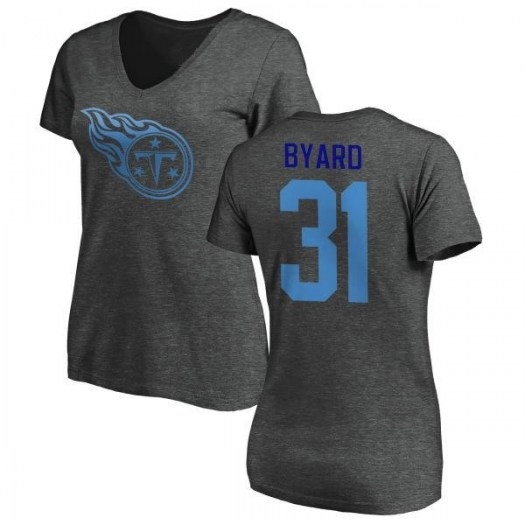Kevin Byard Tennessee Titans Women's Pro Line by Branded One Color T-Shirt - Ash